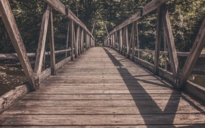 Picture bridge, shadow, wooden