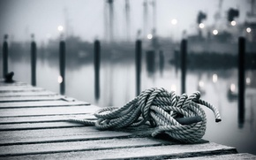 Picture rope, bokeh, a coil