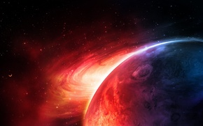 Picture red, blue, planet, sci fi