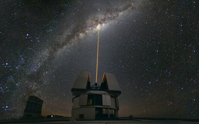 Picture The Milky Way, Chile, Observatory, shines on Paranal Centre, The Milky Way, Laser Towards