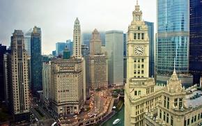Picture the sky, building, skyscrapers, USA, America, Chicago, Chicago, USA, skyscrapers, illinois