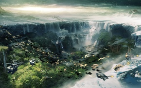 Picture waterfall, Roy, lost planet