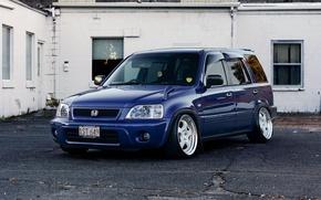 Picture white, wheels, honda, japan, blue, jdm, tuning, front, face, stance, mugen, vtec, hr-v, eng