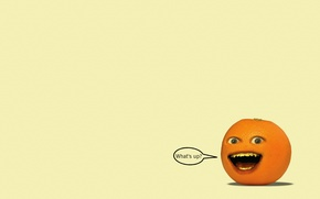 Wallpaper minimalism, look, Annoying orange, The Annoying Orange, the inscription