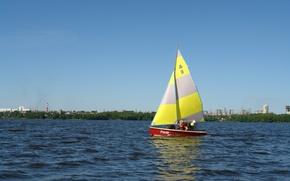 Picture children, lake, Yacht, RUMB