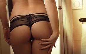 Wallpaper ass, girl, light, ass