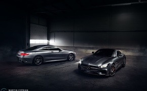 Picture car, Mercedes-Benz, hangar, AMG, S500