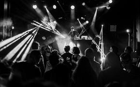 Wallpaper lights, globes, DJ, disc jockey, eletronic music, people