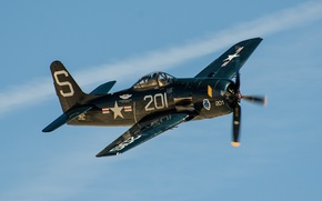 Picture fighter, war, Grumman, deck, period, world, Second, F8F, Bearcat
