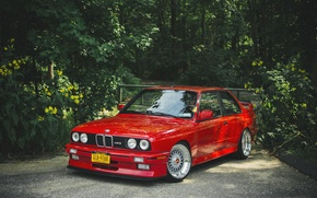Picture BMW, BMW, red, red, tuning, e30