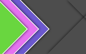 Picture line, blue, grey, pink, geometry, green, design, color, material