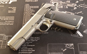 Picture gun, weapons, Ruger, semi-automatic, SR1911