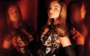 Picture look, model, brown hair, Eniko Mihalik