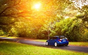 Picture Subaru, Impreza, STI, blue, Subaru, Impreza