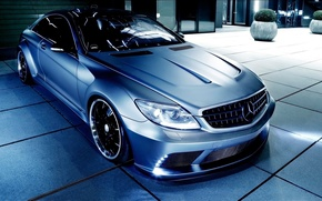 Picture auto, night, tuning, Mercedes, Mercedes-Benz CL63 AMG