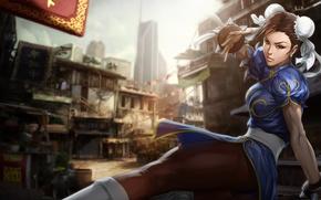 Picture girl, game, fight, Street Fighter, Chun Li