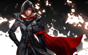 Picture look, girl, hood, Assassins Creed