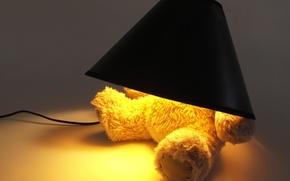 Picture light bulb, creative, lamp, Teddy bear, original, teddy bear, lampshade