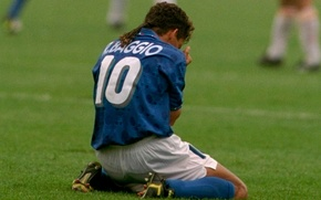 Picture Italy, 1994, Roberto Baggio, The Divine Ponytail, Not scored from the penalty spot