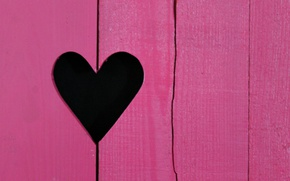 Wallpaper heart, color, the door