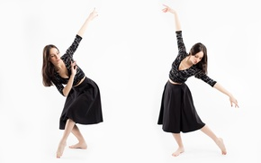 Picture girl, pose, movement, dance, Alexandra