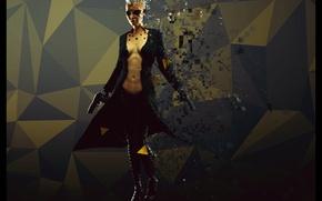 Wallpaper girl, gun, punk, cyborg, cyberpunk, fan art, deus ex, mankind divided, areces, Deus Ex Mankind ...