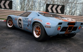 Picture coupe, Ford, art, sports car, GT40, dangeruss, sports car