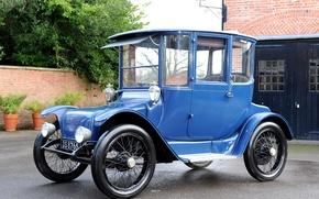 Picture retro, blue, side, Detroit, 1915, Electric, Brougham
