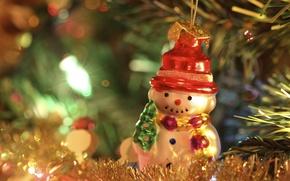 Picture toy, snowman, prazdnik