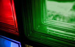 Wallpaper color, glass