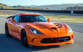 Picture machine, orange, speed, Dodge, supercar, Viper, SRT