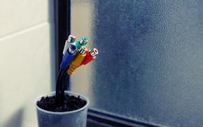 Picture wire, pot, Hi-Tech