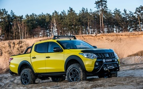 Picture Yellow, Mitsubishi, Cars, L200, 2016, Monster Concept