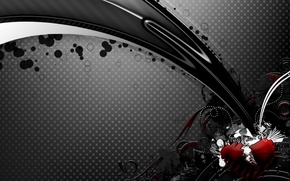 Wallpaper spot, black, heart