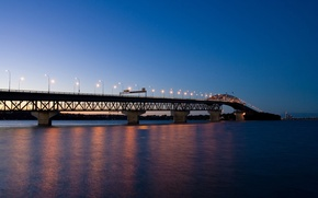 Wallpaper lights, the evening, Bridge