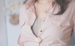 Wallpaper shirt, heart, jacket, gold, light pink, mood, buttons, suspension, blouse
