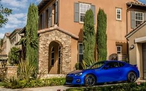 Picture house, subaru, blue, brz