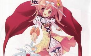 Picture magic, hat, cloak, rod, art, noizi ito, nanatsuiro drops, rainbow drops.fairy, tatatsuiro