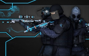 Picture line, smoke, the concept, three, special forces, awp, cs go, gunsmith, m4a4, usp