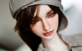 Picture doll, cap, guy, doll, BJD