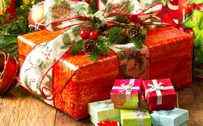 Picture mood, holiday, gifts, New year, new year, box, gift, 2015