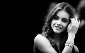 Picture model, model, black and white, Barbara Palvin, Barbara Palvin