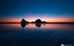 Picture sunset, rocks, dal, San Francisco, photographer, Kenji Yamamura