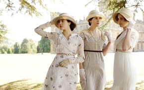 Picture the series, characters, actress, Downton Abbey, Michelle Dockery, Edith Crawley, Sybil Crawley, Mary Crowley, Laura …