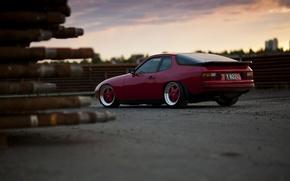 Picture red, Porsche, red, Porsche, Turbo, 924