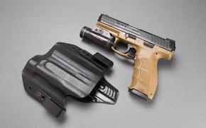 Picture background, flashlight, Heckler & Koch, self-loading pistol, 9 mm, VP9
