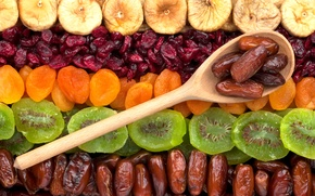 Picture kiwi, fruit, figs, dried apricots, dried fruits, dates