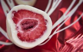Wallpaper strawberry, chocolate, fruit