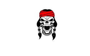 Picture skull, sake, Indian, Apache