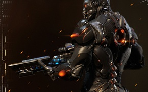 Picture armor, warrior, Ghost, rifle, Starcraft